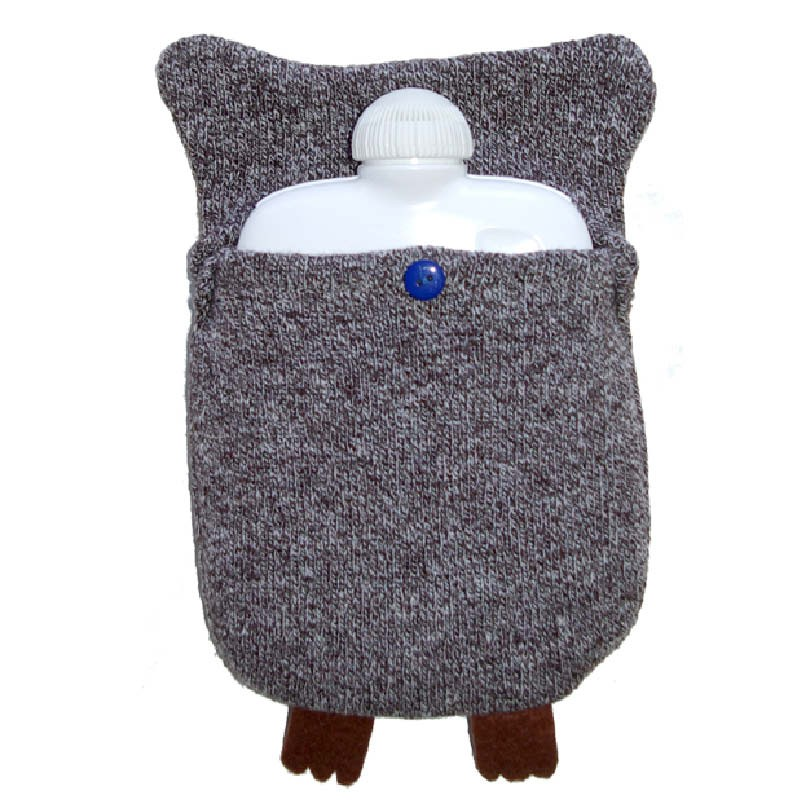 Owl Hot Water Bottle Cover Knitting Pattern : Hugo Frosch Eco Hot Water Bottle Owl Cover Germany