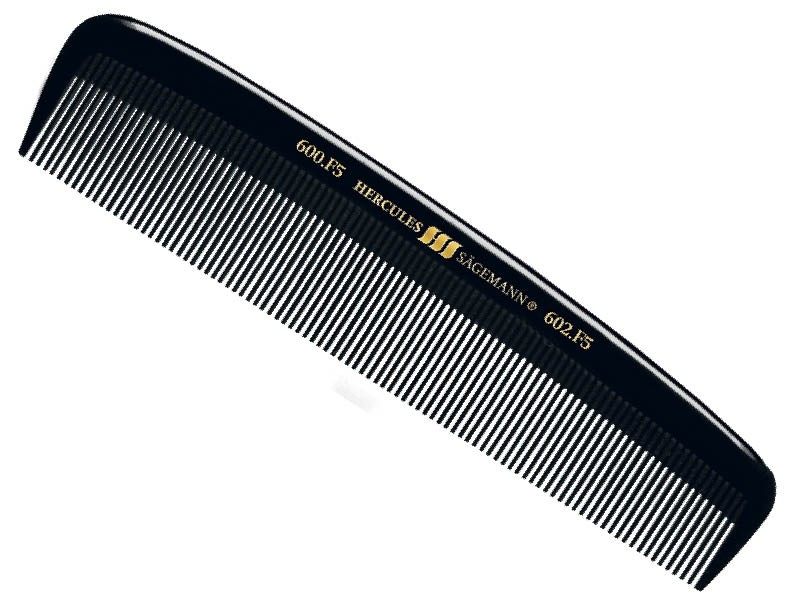 Hercules Sagemann Mens Hair Comb All Fine Teeth 5""