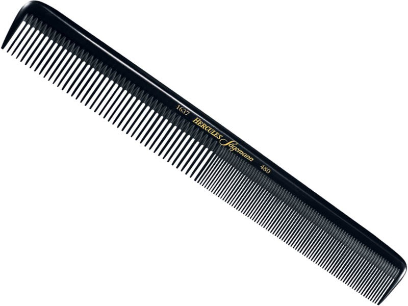 """Hercules Seamless Hair Cutting Comb 8.5"""" With Wide Fine Teeth"""