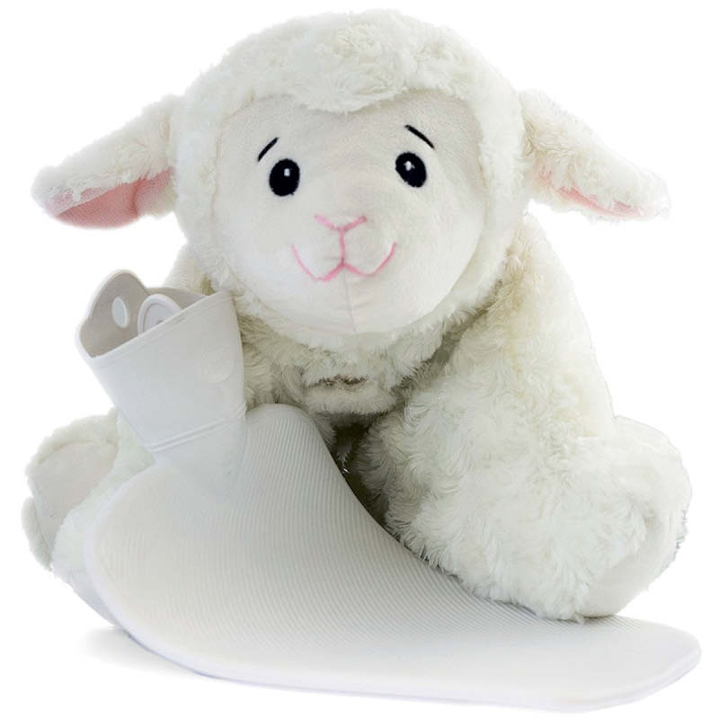 Hugo Frosch Hot Water Bottle With Cuddly Sheep Cover 1.8L 0450