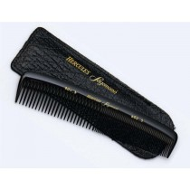 HERCULES SAGEMANN GENTS HAIR COMB IN LEATHER POUCH Germany