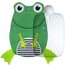 Hugo Frosch Eco Hot Water Bottle With Luxury Frog Cover 0.8L  0091