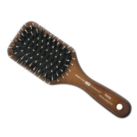 Hercules Sagemann Bristle Mini Paddle Hair Brush Walnut Wood