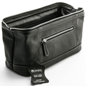 ZOHL Metal Zip Leather Toiletry Bag