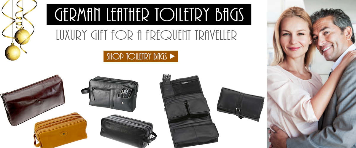 Best Leather Travel Toiletry Bags For Men by Hans Kniebes