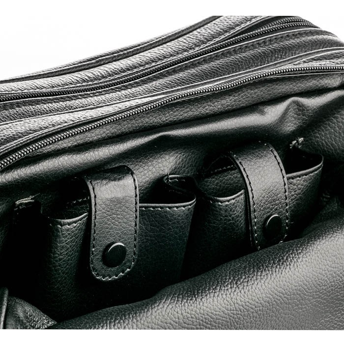 f60642a721ff More Views. ZOHL Double Zip Leather Toiletries Bag ...