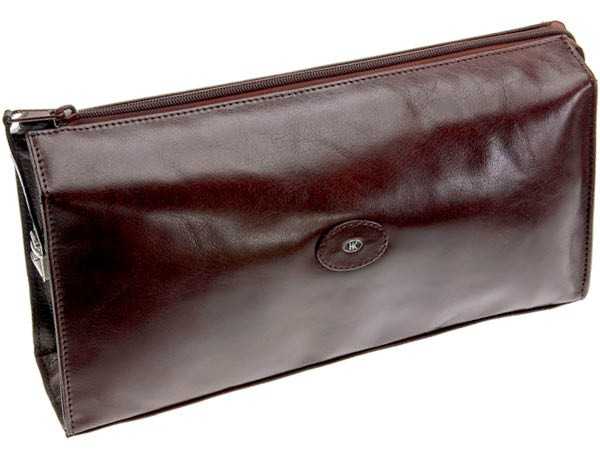 Berlin Toiletry Bag Buffalo Leather by Hans Kniebes