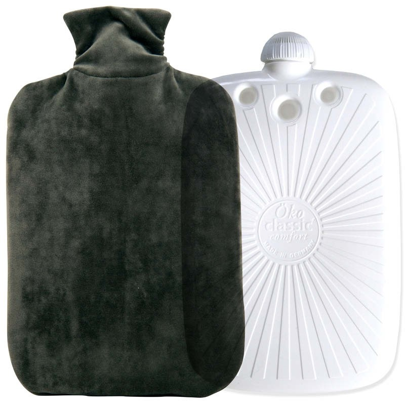 Hugo Frosch ECO Hot Water Bottle With Soft Velvety Cover 2L