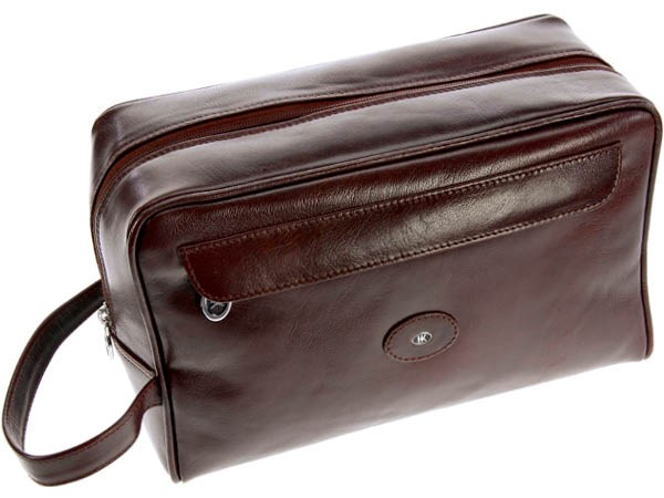 Frankfurt Toiletry Case Buffalo Leather by Hans Kniebes