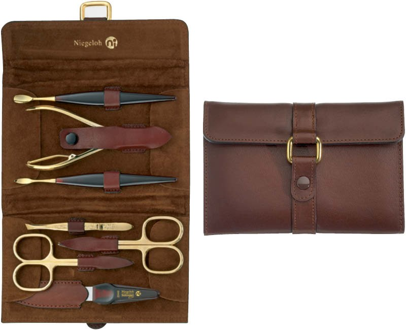 Gold Plated Manicure Set Alamo Xl by Niegeloh Germany