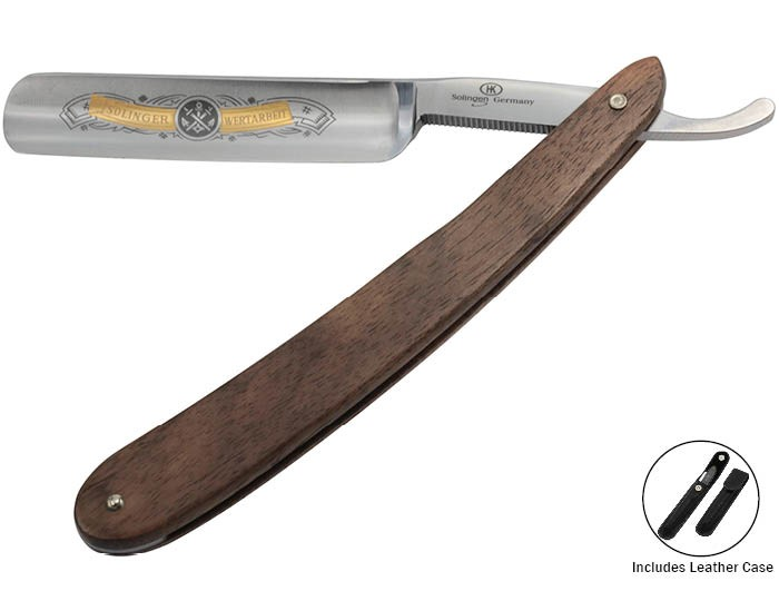 "German Straight Razor 5/8"" Wood Handle Hans Kniebes 11165"