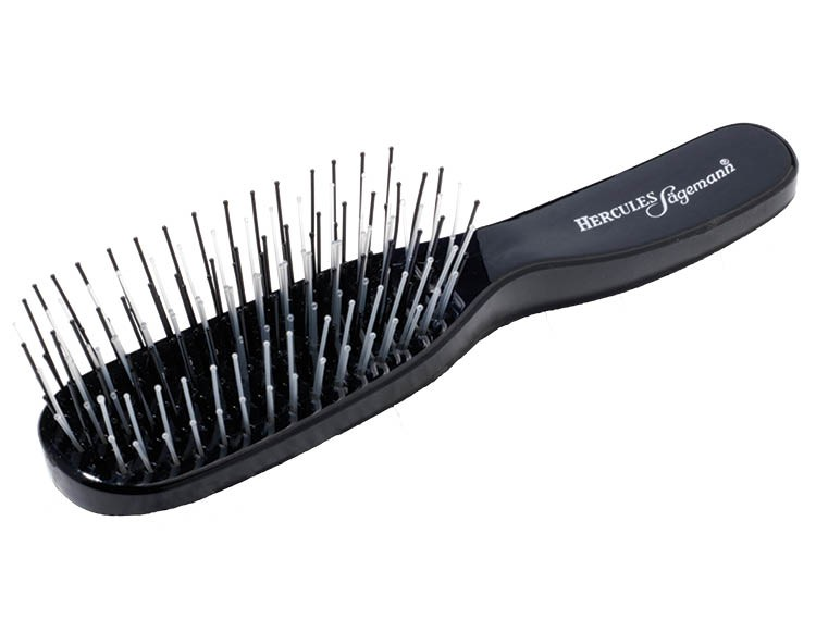 Scalp Hair Brush Small Black by Hercules Sägemann 8100
