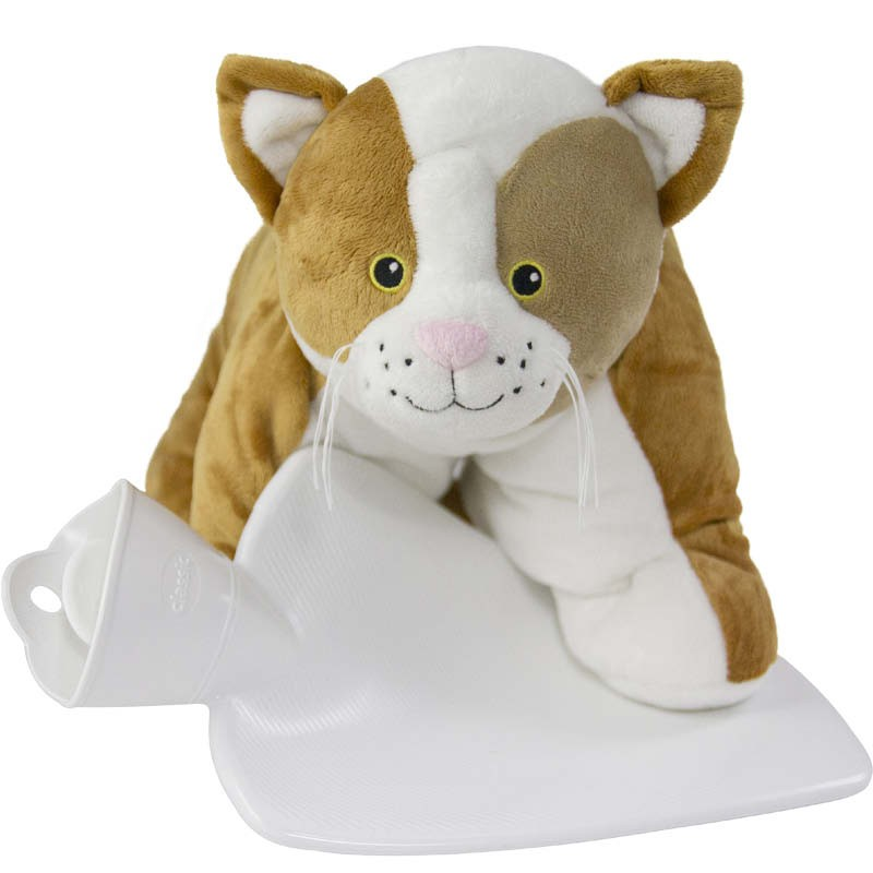 Hot Water Bottle With Cat Cover 3 in 1 Cuddly Toy 1.8L 0470