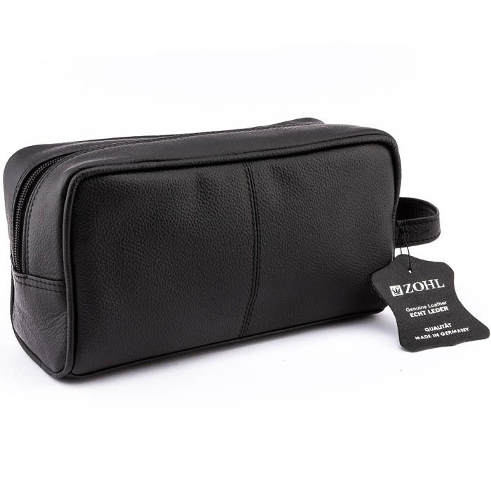 ZOHL Classic Leather Travel Toiletry Bag Medium