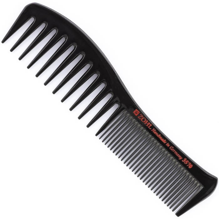 ZOHL Maestra Hair Comb Natural Ebonite Seamless