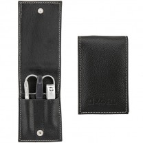 ZOHL Germany Travel Leather Manicure Set Black