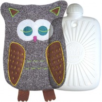 Hugo Frosch Eco Hot Water Bottle With Luxury Knitted Owl Cover 0.8L 0462