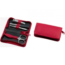 Sonnenschein Germany Travel Leather Manicure Set Red