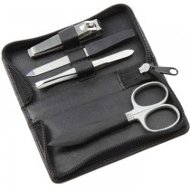 Sonnenschein Germany Travel Leather Manicure Set Black
