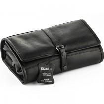 ZOHL Hanging Leather Toiletry Bag With Manicure Set