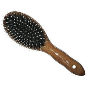 Hercules Sagemann Bristle Oval Hair Brush Walnut Wood