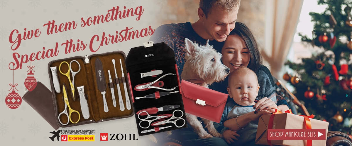 Best Christmas Gifts Ideas is a Zohl German Manicure Sets Solingen Nail Scissors Kits for Men and Women