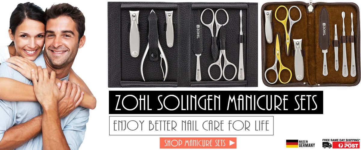 Best German Manicure Sets Solingen Nail Scissors Clippers Gift Kits for Men and Women